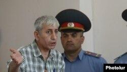 Шант Арутюнян во время судебного заседания (архив)