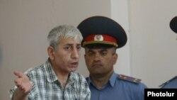 Шант Арутюнян в ходе судебного заседания
