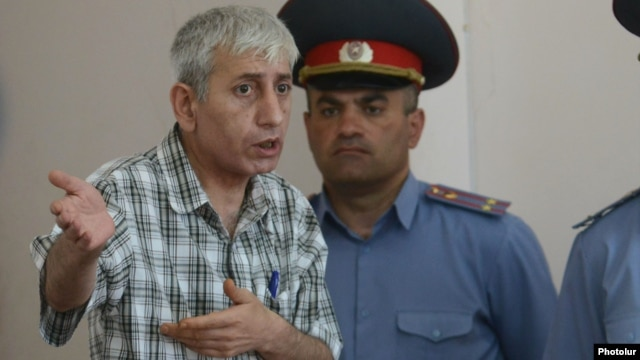 Armenia - Anti-government activist Shant Harutiunian speaks at his trial in Yerevan, 25Jun2014.