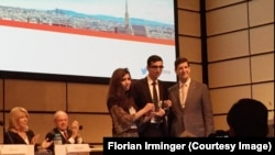 Azerbaijan. Baku. Lawyer Intigam Aliyev awarded by International Bar Association in Austria