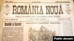 """Ziarul """"România Nouă"""" despre vizita delegației basarabene la Iași (BCU Iași)"""