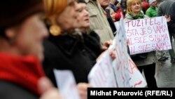 Բողոքի ցույց Բոսնիա-Հերցեգովինայի մայրաքաղաք Սարաևոյում, 12-ը փետրվարի, 2014թ․