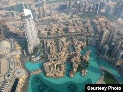 Дубай з вышыні найвышэйшага будынку — «Бурдж-Халіфа»