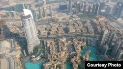 Вид на Дубай.