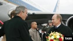 Встреча Джорджа Буша и Владимира Путина во «Внуково-2»