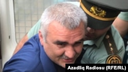 Afgan Mukhtarli brought to court. Azerbaijan, Baku.