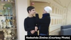 Надежда Зимина с сыном
