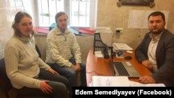 Наталья Харченко, Андрей Виноградов и их адвокат Эдем Семедляев