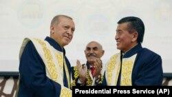 Режеп Тайып Эрдоган жана Сооронбай Жээнбеков, 3-сентябрь, 2018-жыл.