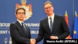 Претседателите на Македонија и на Србија, Стево Пендаровски и Александар Вучиќ