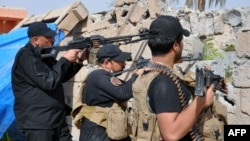 نیروهای ویژه ارتش عراق در حال نبرد در رمادی