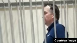 Анджей Онищук во время выступления в зале суда. Фото предоставлено родственниками заключенного.