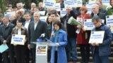 Maia Sandu la demonstrația de la Chișinău cu ocazia Zilei Europei