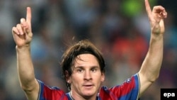 Spain -- FC Barcelona's Argentinian forward Lionel Messi, 29Sep2009