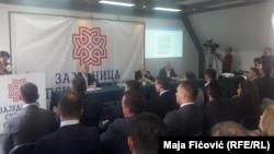 Predstavnici Srpske liste na sastanku u Zvečanu.