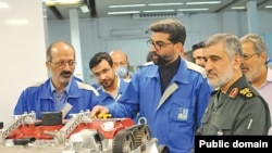 Amir Ali Hajizadeh, a senior IRGC commander visiting a car factory. June 9, 2020