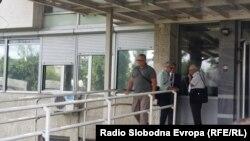 Архивска фотографија. Горан Грујевски пред Основен суд Скопје 1 по денешното судење за Тврдина 2.
