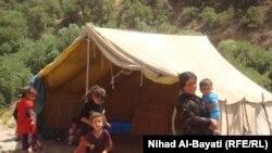 نازحون كرد من مناطق تعرضت للقصف الايراني