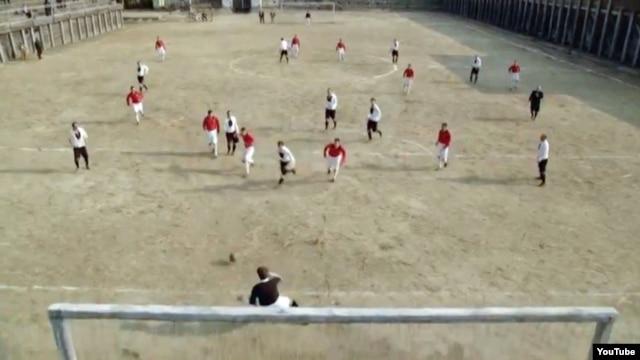 "A screengrab from Macedonian director Darko Mitrevski's World War II soccer drama ""The Third Half"""