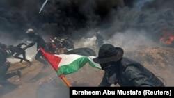 Палестинці протестують проти перенесення посольства США в Ізраїлі до Єрусалима, 14 травня 2018 року