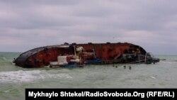 Судно «Delfi» сіло на мілину поблизу одеського пляжу 22 листопада 2019 року