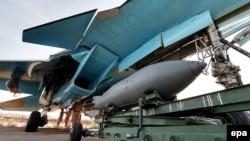 Российский военный самолет в Сирии
