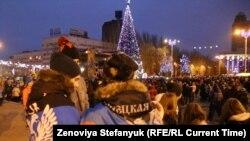 Donetskdə Yeni il qeyd olunur