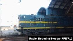 Локомотива на железничка станица Скопје.