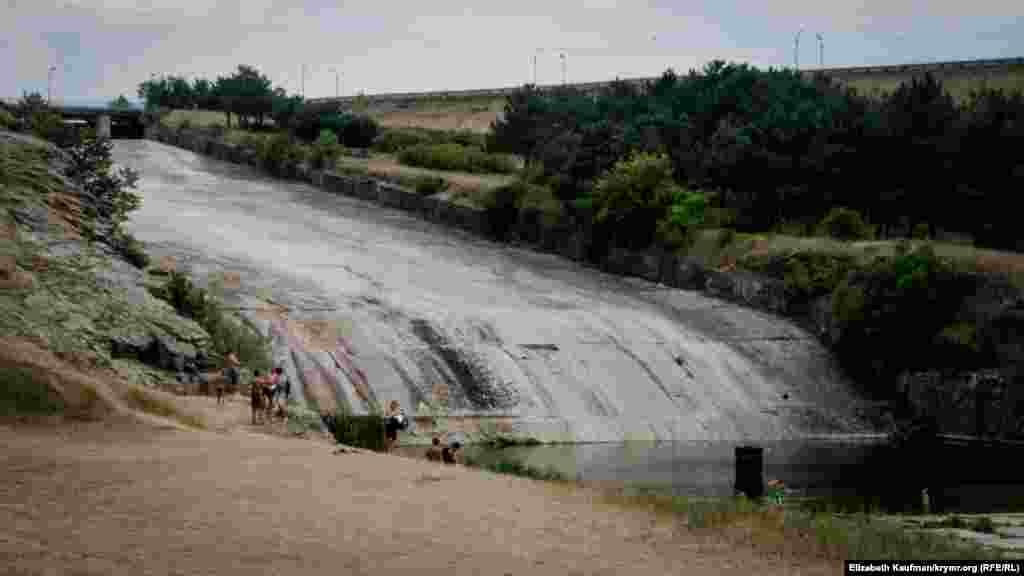 Плотина Симферопольского водохранилища