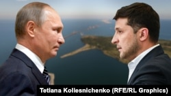 A meeting of Russian President Vladimir Putin (left) and Ukrainian President Volodymyr Zelenskiy is planned for December 9.