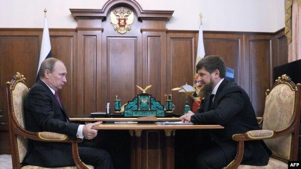 Vladimir Putin və Ramzan Kadyrov, 25 mart 2016