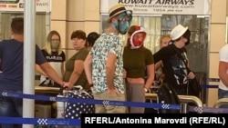 Українські туристи очікують рейсів до України у аеропорті міста Шарм-ель-Шейх