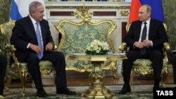 ولادیمیر پوتین رئیس جمهور روسیه و بنیامین نتنیاهو صدراعظم اسرائیل