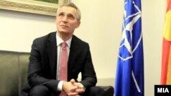 Скопје: Генералниот секретар на НАТО Јенс Столтенберг.