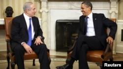 Барак Обама, раисиҷумҳури Амрико бо Бенёмин Нетаняҳу, нахуствазири Исроил