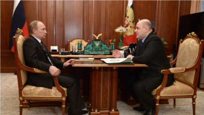 Ruski predsjednik Vladimir Putin i premijerski kandidat Mihail Mišustin (Mikhail Mishustin)