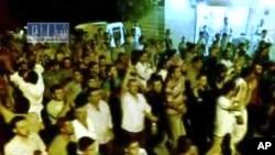Сирия: Акция протеста в деревне под городом Хама