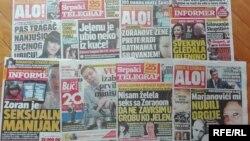 Deo naslovnih strana tabloida