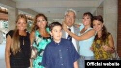 Azerbaijan -- President Aliyev`s children with their grandfather Arif Pashayev, undated