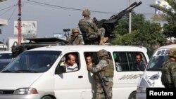 Ливан қауіпсіздік күштерінің қызметкерлері (Көрнекі сурет).