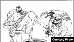 رسم كاركاتيري للفنان الراحل مؤيد نعمة