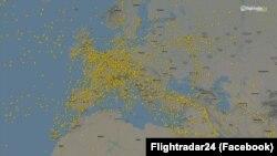 Европейское воздушное пространство - 6 марта