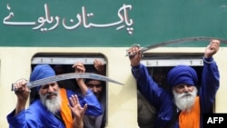 File photo of Sikh Nihang (religious warriors) in Pakistan.