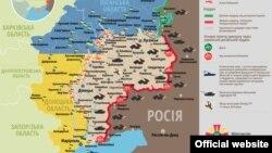 Ситуація в зоні бойових дій на Донбасі, 24 серпня 2015 року