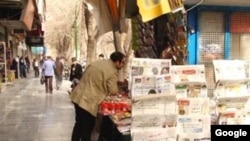 Newspaper stand in Isfahan. FILE PHOTO