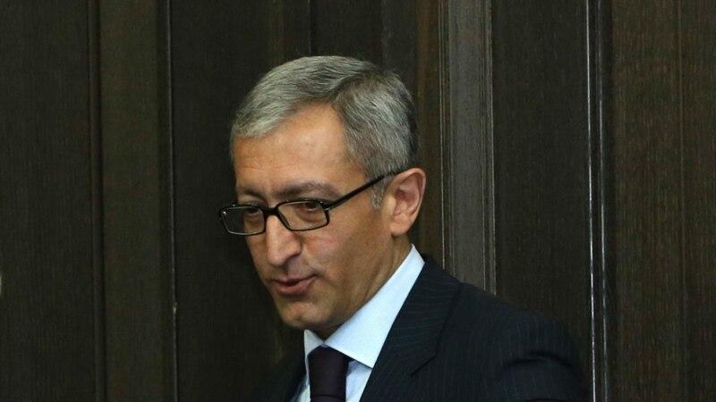 Հայաստանի էներգետիկայի նախարարը հրաժարական է ներկայացրել