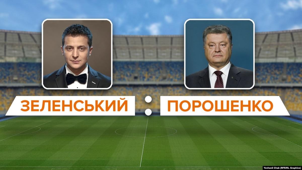 Дебаты Зеленского и Порошенко: хронология событий от телемоста до двух сцен на «Олимпийском»