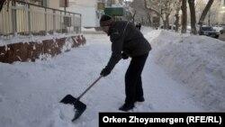 Астанадағы қыс. (Көрнекі сурет).