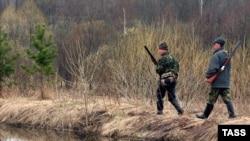 Охотники в Ивановской области России. Иллюстративное фото.