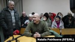 Микола Коханівський під час засідання суду, 11 січня 2018 року